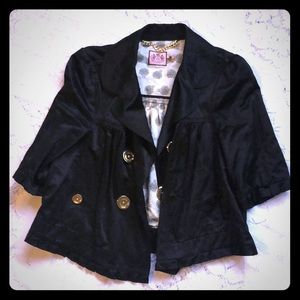 Juicy couture black cropped jacket
